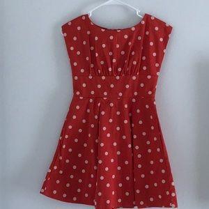 Kate Spade Red Polka Dot Dress Bow 140/Girls 10